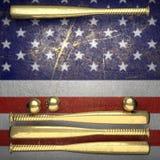 Baseball e fondo della parete di U.S.A. Immagine Stock Libera da Diritti