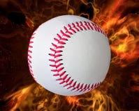 Baseball e fuoco Immagini Stock Libere da Diritti