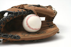 Baseball e guanto Fotografia Stock Libera da Diritti
