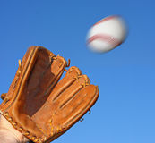 Baseball e guanto Immagine Stock