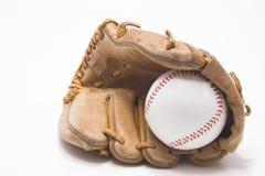 Baseball e guanto di baseball fotografie stock libere da diritti