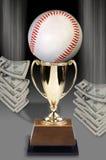 Baseball e soldi Fotografia Stock Libera da Diritti