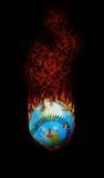 Baseball - ein brennendes Thema für die Welt lizenzfreie abbildung