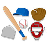 Baseball Elements Stock Image