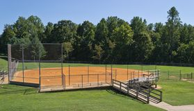 Baseball- eller softballdiamant Royaltyfri Fotografi