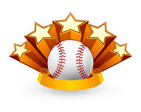 Baseball Emblem. Computer illustration, isolated on the white Royalty Free Stock Photos