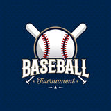 Baseball emblem blue. Modern professional baseball tournament logo with ball. Sport badge for team, championship or league. Vector illustration Royalty Free Stock Image