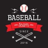 Baseball emblem for girls Royalty Free Stock Photo