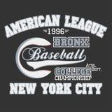 Baseball emblem Stock Image