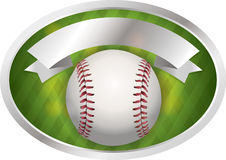 Baseball Emblem Illustration Royalty Free Stock Photo