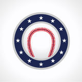 Baseball emblem logo Royalty Free Stock Images