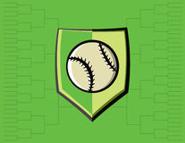 Baseball Emblem and Tournament Background Royalty Free Stock Image
