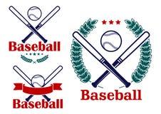 Baseball emblems or badges vector designs Stock Image