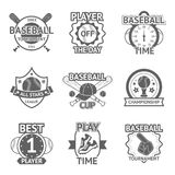 Baseball Emblems Set Royalty Free Stock Images