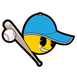 Baseball emoticon Royalty Free Stock Photos