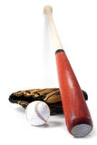 Baseball equipment stock image