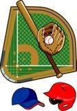 Baseball Equipment. Set of Stock Photography