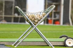 Baseball equipment on the field Royalty Free Stock Image