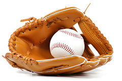 Baseball equipment. Isolated on white background Royalty Free Stock Image