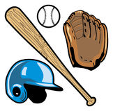 Baseball equipment Royalty Free Stock Photos