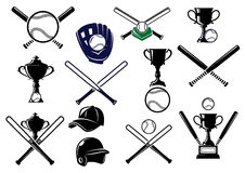 Baseball equipments set Royalty Free Stock Images