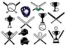 Baseball equipments set Royalty Free Stock Images