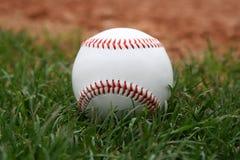 Baseball in erba Fotografia Stock