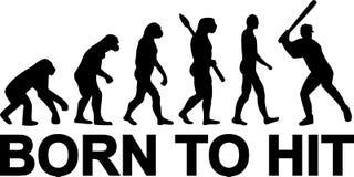 Baseball ewolucja Urodzona uderzać ilustracja wektor