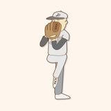 Baseball exercise theme elements vector,eps. Vector illustration file Royalty Free Stock Image