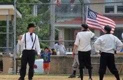 Baseball för gammal stil Arkivbild