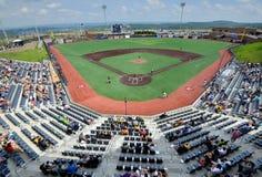 Baseball för svarta björnar för WV - Monongalia County basebollarena Arkivbild