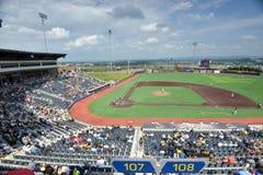 Baseball för svarta björnar för WV - Monongalia County basebollarena Arkivfoto