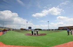 Baseball för svarta björnar för WV - Monongalia County basebollarena Fotografering för Bildbyråer