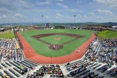 Baseball för svarta björnar för WV - Monongalia County basebollarena Arkivbilder