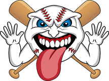 Baseball Face Cartoon Stock Photos