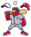 Baseball falcon mascot vector illustration