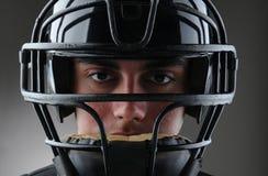 Baseball-Fangfederblech-Nahaufnahme Stockbilder