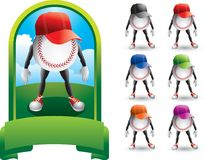Baseball fans royalty free illustration