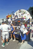 Baseball Fans Buying Souvenirs, Fenway Park, Boston, Massachusetts Stock Photos