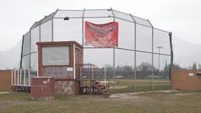Baseball-Feld bei Tempelhofer Feld, Haus von Berlin Braves In Berlin stock video footage