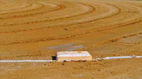 Baseball field. First base of little league baseball field before game royalty free stock images