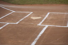 Baseball Field. Horizontal image of home plate on a baseball field Stock Photography