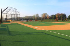 Baseball Field. For disabled in sunny morning Stock Photos