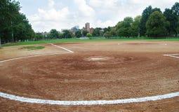 Baseball field. A baseball field in a park in Boston, Massachusetts Stock Image