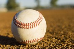 Baseball On Field Stock Photography