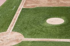 Baseball Field. An empty baseball field Royalty Free Stock Images
