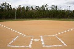 Baseball Field. A wide shot of an empty baseball field Stock Image