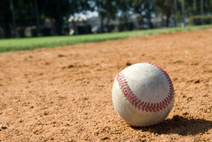 Baseball and field Stock Image