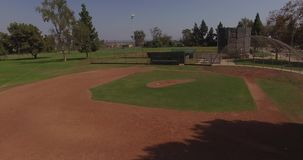 Baseball field aerial stock video