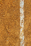 Baseball Field. Background with white strip Royalty Free Stock Photos